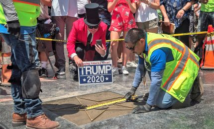 Walk of Fame, Hollywood vuole rimozione della stella di Trump