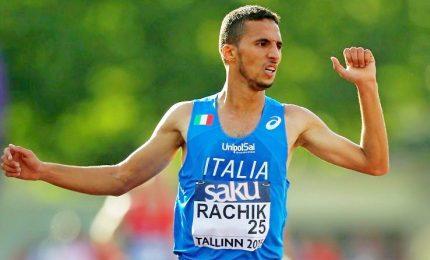 Quarta medaglia azzurra, Rachik bronzo nella maratona