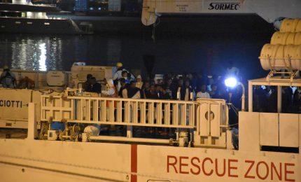 La Diciotti ferma al porto di Catania, a bordo 177 persone