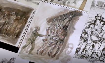 La tortura in Siria nei disegni spaventosi di un rifugiato
