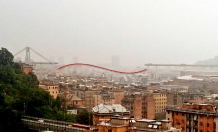 """Crolla ponte Morandi su autostrada Genova. Finora 20 vittime accertare, anche una bambina. A fuoco abitazione, donna 75enne intossicata. I tecnici: """"E' stato progettato male"""""""