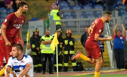 Roma-Atalanta 3-3 nel posticipo di serie A