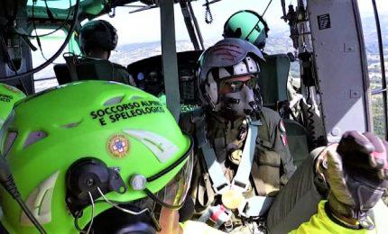 A Caserta esercitazione di Aeronautica e Soccorso alpino