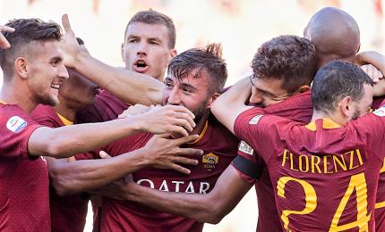 """Lazio ko, Roma una festa derby che scaccia crisi. Di Francesco: """"Così andremo lontano"""""""