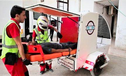 Una moto-ambulanza per salvare le vite a Idlib