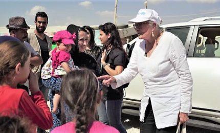 Vanessa Redgrave Goodwill Ambassador Unicef in missione in Libano