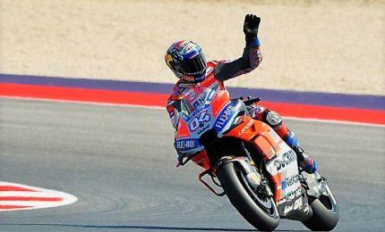 """Gp san Marino, vince Dovizioso: """"Ero in trance con la moto"""". Marquez e Crutchlow sul podio"""
