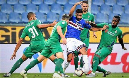 Fiorentina spaventa la Sampdoria, Caprari le dà il pari