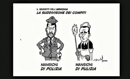 La satira in scena ad Atreju, ma Salvini difende Di Maio