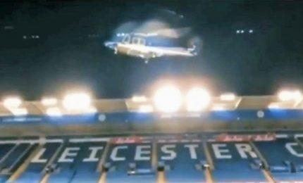 Immagini dell'incidente di volo del presidente del Leicester