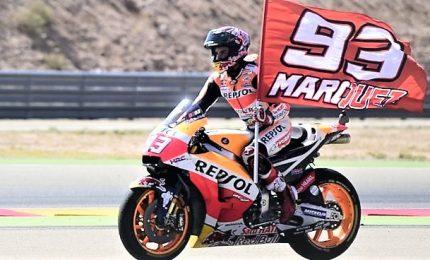 Dovizioso si arrende, Marquez settebello Mondiale