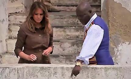 Melania Trump in Ghana visita la prigione degli schiavi