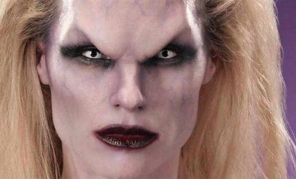 Michelle Hunziker vampiro contro la violenza sulle donne