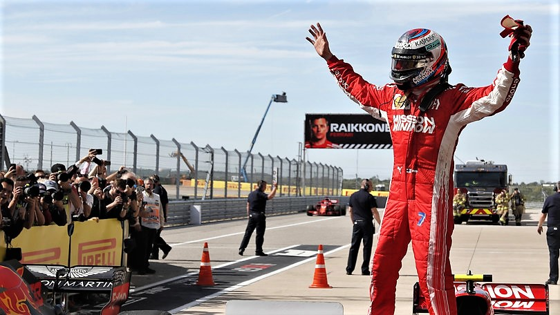 Acuto Ferrari, Raikkonen rinvia festa Hamilton