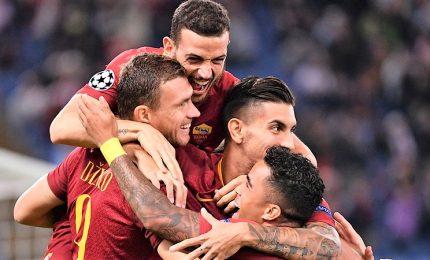 """Roma-Viktoria Plzen 5-0, tripletta di Dzeko. Di Francesco: """"Ecco le risposte che volevo"""""""