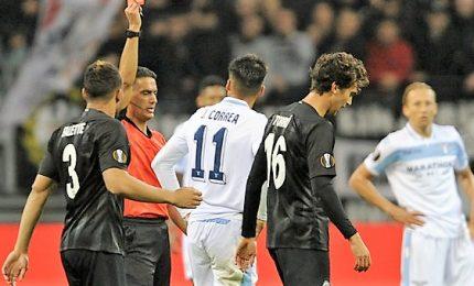 """Tracollo Lazio, ne prende 4 dall'Eintracht. Inzaghi: """"Gara rovinata dall'arbitro"""""""