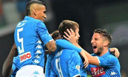 Napoli forza 3, a Udine una vittoria d'autorità