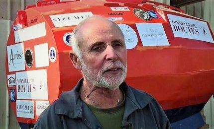 A 71 anni vuole attraversare l'Atlantico in un barile