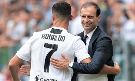 "Allegri: ""Ronaldo sarà in panchina, per una volta guarderemo partita assieme"""