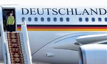 """Guasto all'aereo di Merkel """"grave"""", non viene escluso sabotaggio"""