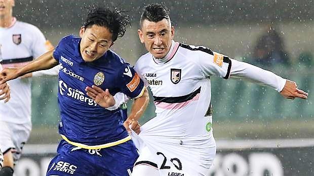 Verona Palermo 1-1, Rajkovic risponde a Di Carmine. Rosanero ancora primi