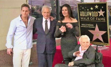 Stella sulla Walk of Fame per Michael Douglas, accanto a Kirk