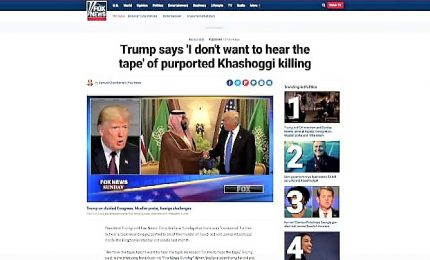 Trump rifiuta di ascoltare audio torture Khashoggi: è terribile