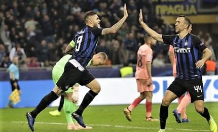 Icardi agguanta Barca, per Inter pari vale