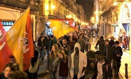 Palermo, manifestanti durante il vertice sulla Libia