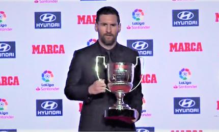 Leo Messi premiato come capocannoniere della Lìga 2017