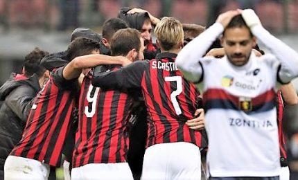 Romagnoli gela Genoa, Milan aggancia la Champions