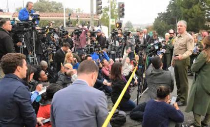 """Sparatoria in un bar di Los Angeles, 13 morti. """"Sergente morto da eroe"""""""
