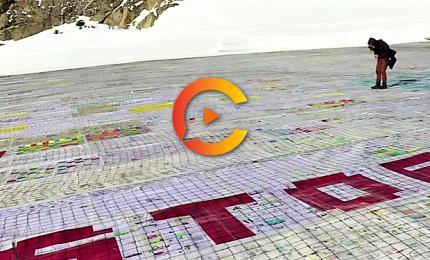 Una cartolina gigante sulle Alpi svizzere per il clima