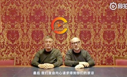 "Dolce e Gabbana si scusano con i cinesi in un video: ""Duibuqi"""
