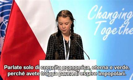 Clima, la 15enne Greta inchioda i leader alle loro responsabilità
