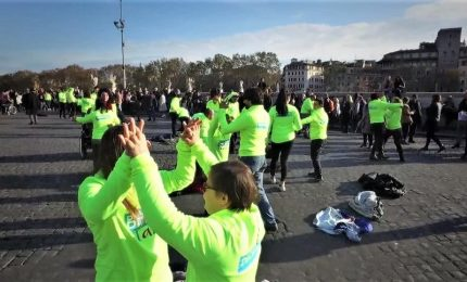 Flash mob a Roma per le persone con disabilità