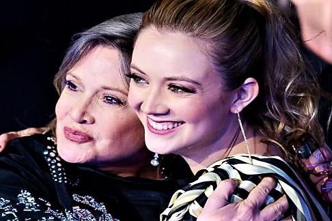 Billie Lourd, toccante omaggio alla mamma Carrie Fisher
