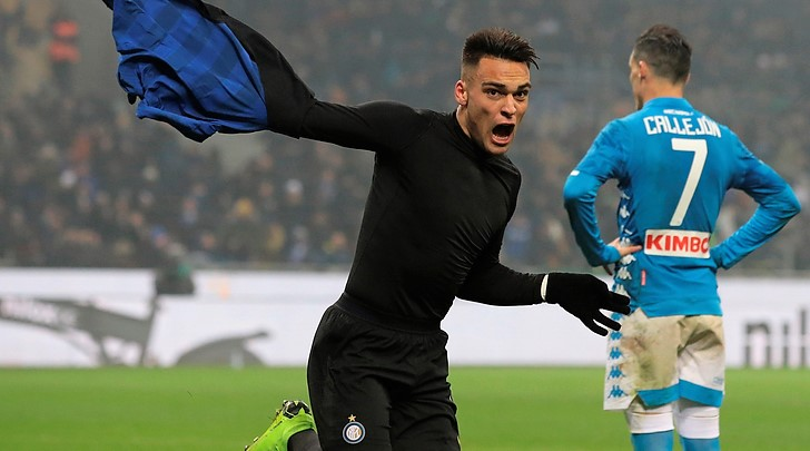 Colpo Lautaro Martinez, Inter batte Napoli in 9