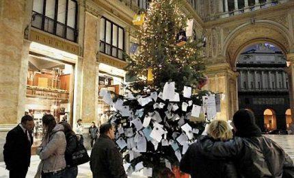 Napoli, di nuovo rubato l'albero di Natale in Galleria Umberto I