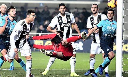 Juve trema con Atalanta, Ronaldo evita primo ko
