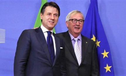 Conte a Juncker: deficit 2,04%, ma restano reddito di cittadinanza e quota 100