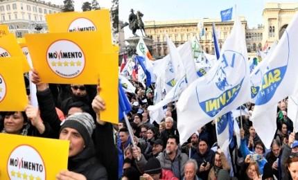 Salvini e Di Maio aprono campagna elettorale