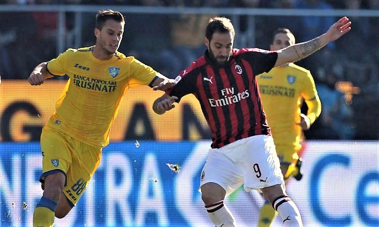 Milan è sempre crisi, solo pari a Frosinone