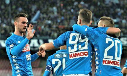 Il Napoli passa a Bergamo, resta in scia Juve