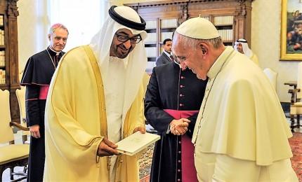 Pace e dialogo con islam, il primo Papa negli Emirati Arabi Uniti