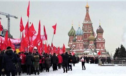 A Mosca i nostalgici di Lenin commemorano la morte dopo 95 anni