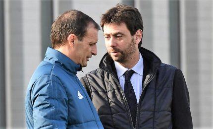 Juventus in difficoltà, Agnelli alla Continassa con Allegri