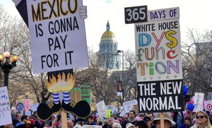 Donne in piazza per la terza Women's march, da Washington a Roma
