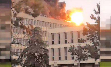 Lione, esplosione e incendio nel campus universitario La Doua