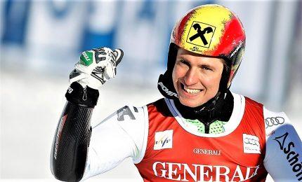 Cinquina Hirscher in slalom Zagabria, Italia delude